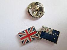 New Zealand & Uk Friendship Enamel Metal Lapel Pin  -24 x 8mm   -  L095