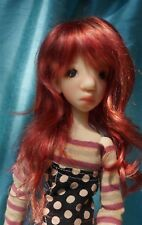 Yosd size Kanawaves Vintage Red worn by Kaye Wiggs Tobi mini as model 6-7 wig