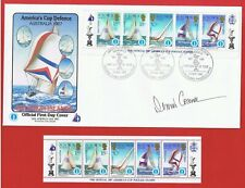 Solomon Islands #570-574 FDC Americas Cup signed