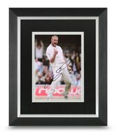 Andrew Flintoff Signed 10x8 Framed Photo Display Cricket Autograph Memorabilia