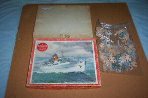 "VICTORY 125 PIECE PLYWOOD VINTAGE JIGSAW: ""EMPRESS OF BRITAIN"""