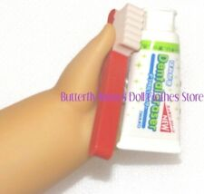 Red Toothbrush Toothpaste 18 in Doll Clothes Accessory Fits American Girl