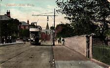 Derby. Osmaston Road by Valentine's. Tram.