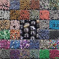 Lots Natural Stone Gemstone Round Spacer Loose Beads DIY 4/6/8/10/12MM