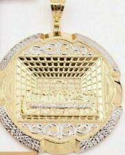 """10k Yellow white Gold Pendant charm Medallion fo Chain Necklace Last supper 2.4"""""""