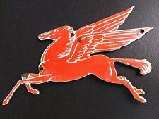 Vintage  Mobil Pegasus Porcelain Sign 1950's