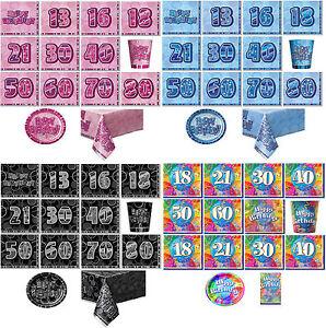 Birthday Party Supplies Tableware Decorations Paper Plates Napkins Serviettes