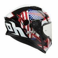 Full Face Motorbike Helmet AIROH Valor  - Sam Black Gloss Eye-Catching Graphics