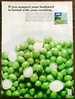 1964 Birds Eye Frozen Vegetable Combinations Print Ad Green Peas & Pearl Onions
