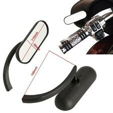 Black Custom Mini Oval Mirrors For Harley Davidson Sportster Dyna Softail V-Rod