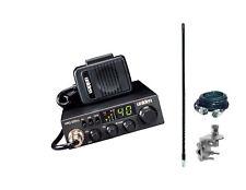New Uniden Pro520XL Compact CB Radio, 4' 1000 watt Antenna, Coax & Mount Kit