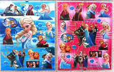 Disney Princesa Frozen Elsa Anna 2 hojas de etiquetas de pared nursery/kids/girls / Habitación