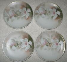 "Antique/Vintage Set of 4 China Decorative Salad Plates R & S Germany 6 1/2"" Dia"