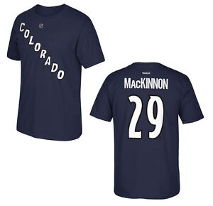 NHL Ice Hockey T-Shirt Colorado Avalanche Nathan Mackinnon 29 Name Number