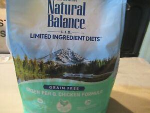 Natural Balance L.I.D. Grain Free Green Pea Chicken Dry Cat Food 5 LB BB 2/22