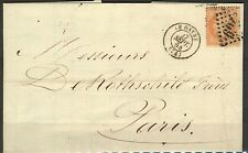 France 1864 cover 40c Napoleon tied 1769 Le Havre (74) with transit marks FU