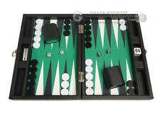 "13"" Premium Backgammon Set - Travel Size - Black Board, White and Black Points"