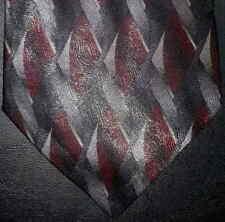 Puritan Tie Charcoal Maroon Diamond Pattern NIB t1947