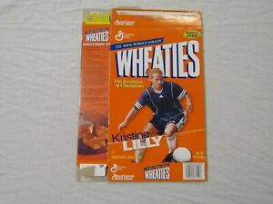 Kristine Lilly USA Women's Soccer Wheaties Cereal Box (Flat) 1999
