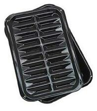Range Kleen BP106X 2 PC Porcelain Broil and Bake Pan 12.75 Inch 1 Pack, Black