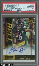 2013 Panini R & S Gold #156 Le'Veon Bell Steelers RC Rookie AUTO #/49 PSA 10 GEM