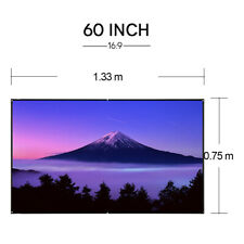 60'' Projector Screen HD Projection 16:9 Home Cinema Indoor Outdoor Party Game