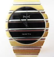 Rare men's quartz watch PIAGET POLO Jumbo y/w GOLD 18KT