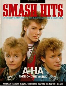 SMASH HITS MAGAZINE AHA MADONNA THE CULT NIK KERSHAW MARILLION DECEMBER 1985