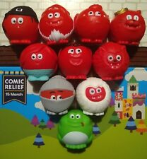 More details for red nose day 2019 rare happy hooter nose (with box) + all 9 original noses