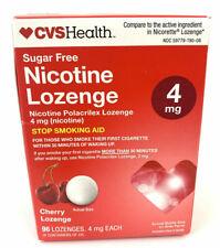 CVS Nicotine Lozenge 4 mg Sugar-Free CHERRY 96 LOZENGES  EXP : 11/2020
