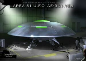 Area 51 U.F.O. AE-341.15B Flying Saucer Model Kit OOP 18SPH02