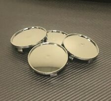 Universal  68mm Silver Chrome Alloy ABS Tyre Wheel Center Hub Caps Covers #H7