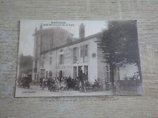 CPA Carte Postale 54 MARBACHE Café-Restaurant de la Gare vers 1920