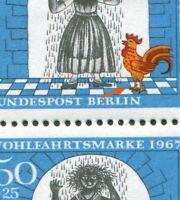 Berlin 313 II postfrisch Plattenfehler Paar mit Strich am Fuß Michel -- . --