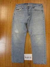 used Levis 501 destroyed feathered grunge USA jean tag 40x30 meas 37x29.5 16297F