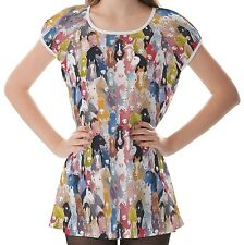 Horses Women Lady Puff Sleeve One Piece Dress b13 acc03452