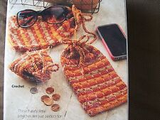 crochet/knit kit - Totes/Glass case/Cell phone case/Coin purse