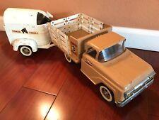 Vintage Tonka Farms Stake Truck W/ Trailer & Horses #35 1960