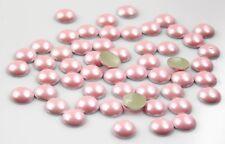 PERLE TERMOADESIVE Mezza Perla Rosa 6mm 100pz hotfix perlato adesive