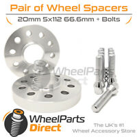 Wheel Spacers (2) & Bolts 20mm for Audi A4 [B9] 15-20 On Aftermarket Wheels