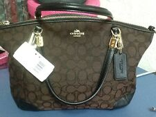 NWT  Coach Small Kelsey in Ll/Brown/Blk Signature Handbag #33737