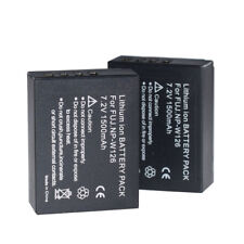 2Pcs NP-W126 NP-W126S Battery For Fuji X-T20 X100F X-H1  X-T100