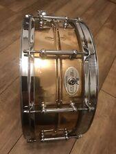 """PEARL Sensitone Custom Alloy Bronze Shell 14"""" X 5.5"""" Snare Drum."""