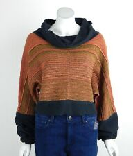 Free People Catch A Smile Pullover Sweater Cowl Neck Slouchy Ribbed Hem XS New