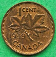 Canada  Lot G1119 1949 1 one Cent penny King George VI  Circulated