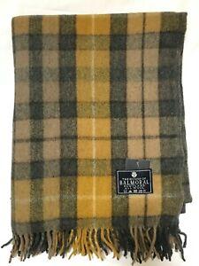 House of Balmoral Natural Buchanan Wool Blanket Scottish Tartan Large Throw Rug