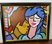 """Jozza 2011 """"Couples"""" Giclee AP Painting On Canvas Signed Numbered Framed COA"""