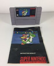 Retro Super Mario World SNES Super Nintendo Entertainment System 1992 w/ Manual