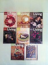 MARTHA STEWART Living Back Issues 8 1999 Magazines Christmas Thanksgiving