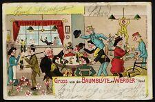 AK Gruss von der Baumblüte zu Werder a. Havel, gel.1904